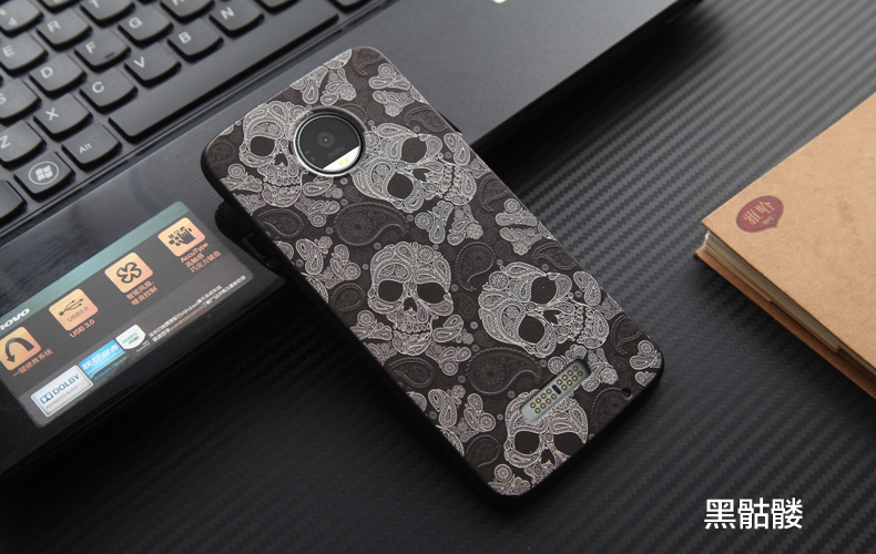 Full Cover Protective Soft Color Skull Head Pattern Phone Cases For Moto X4