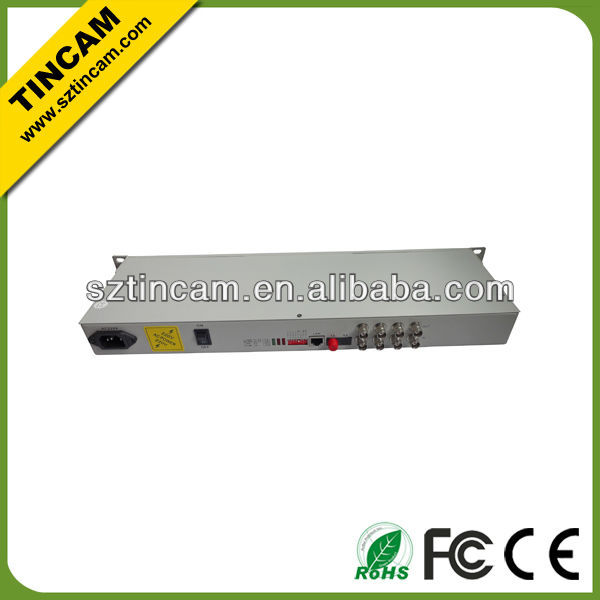 4E1 to fiber converter for E1 transmission over fiber