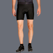 plain black cycling bib shorts for men