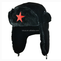 2016 New Winter Outdoor Lei Feng Bomber Hats with Ear Flaps Trapper Russian Hats