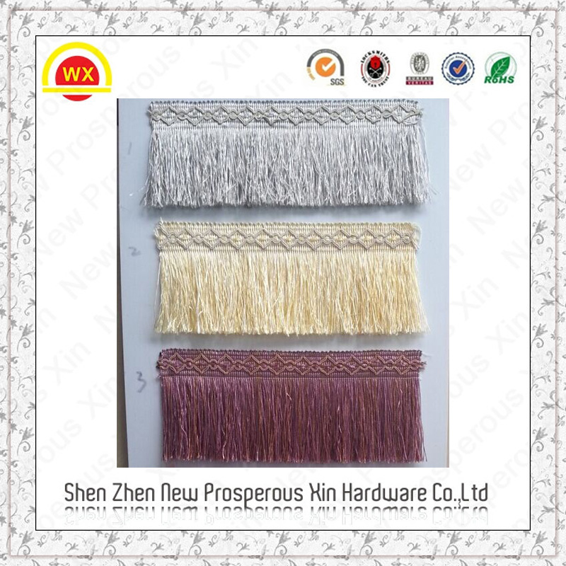 Wholesale cheap colorful curtain tassel fringe