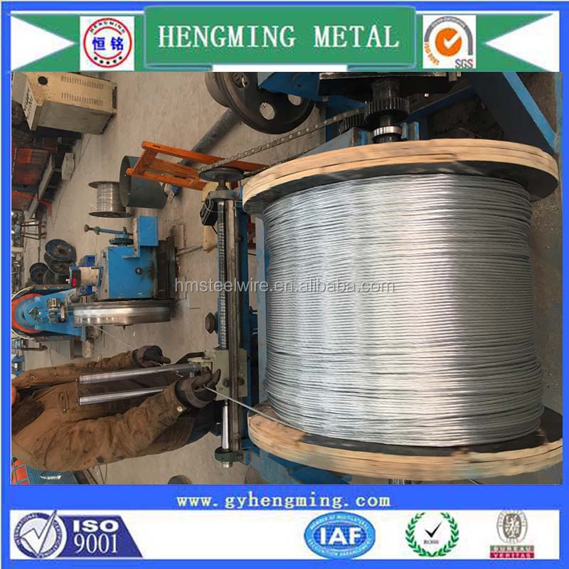 hot sale zinc coated steel wire rope strand