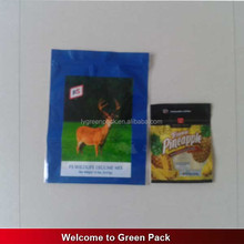 Good barrier moisture proof custom printed laminated stand up livestock feed bag
