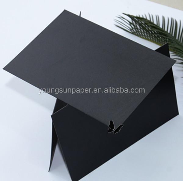 hochwertige zweiseitig schwarze farbe papier papier f r den druck bord 1mm dickes papier. Black Bedroom Furniture Sets. Home Design Ideas