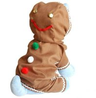 gingerbread boy christmas dog costume