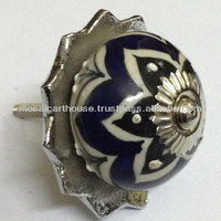 Hand Pained Ceramic Cabinet Knobs With