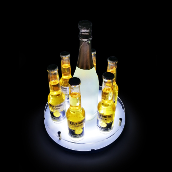 Bar club wine champagne cocktail bottle led service tray
