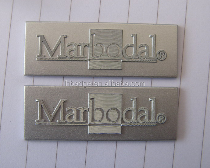 Sandblasting Aluminum Label Metal Brand Logo Label 3m Self Adhesive Printing Label Sticker