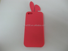 cute rabbit ears design shock-proof silicone mobile phone protector/ back covers