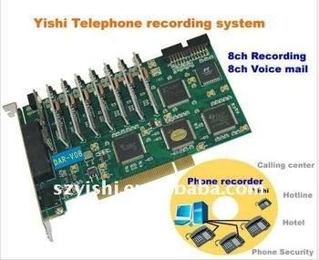 Telephone recording card 8ch with voice mail DAR-V08
