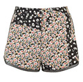 Fashion floral print and lace hem summer board shorts
