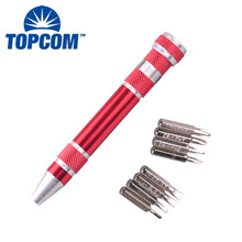 Customized Mini Pocket Screw Driver Portable 8 in 1 Magnetic Base Phillips Screwdriver