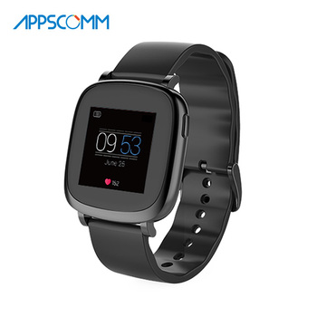 2017 APPSCOMM Smart Watch Bluetooth Waterproof Touch Screen Heart Rate Monitor with Phone Caliing for Android and IOS Phone