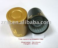 top-opening plastic whisky or wine bottle cap