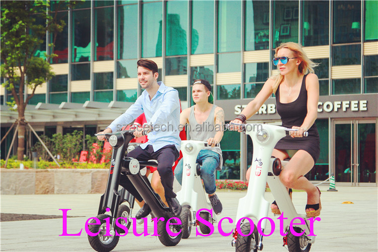 2016 Simple Design Electric Motorcycle 48V 350W Folding Electric Scooter with aluminium Alloy, Lithium Battery, CE,FCC