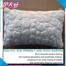 Plain color soft plush cushion,travel and sleep changeable message beads filling travel set cushion,airplane or car neck cushion