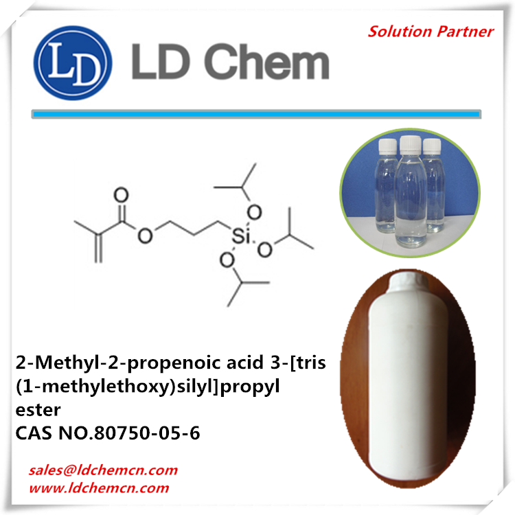 2-Methyl-2-propenoic acid 3-[tris(1-methylethoxy)silyl]propyl ester CAS NO.80750-05-6