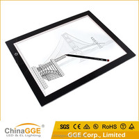 DC12V acrylic panel A4 led light pad/ LED drawing writing tracing board for animation