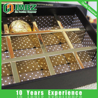 Custom design cardboard paper chocolate box with tray insert