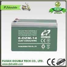 rechargeable lead acid made in china (vehicle)electric bike battery 6-dzm-14(12v14ah/2hr)