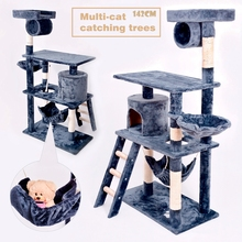 Factory Direct Ebay Cat Pet Sleeping Play Sisal Rope Plush MDF Board Cat Tree House