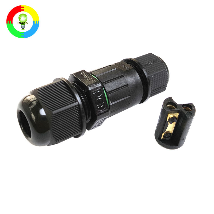 OLINK Professional Electronic High Level Water-resist 2 Pin Connector To Battery Clip Cable IP67