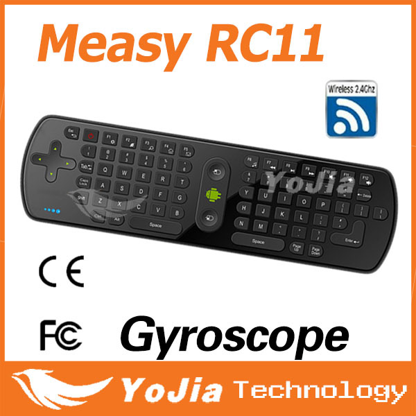 Original Russian keyboard Measy RC11 fly Air Mouse Keyboard mouse Gyro Handheld 2.4G Wireless Remote Control for TV BOX PC Table
