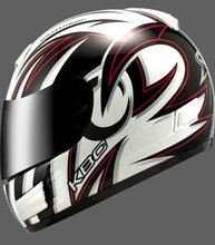 KBC TK8 Swirl full face motorcycle helmet Black