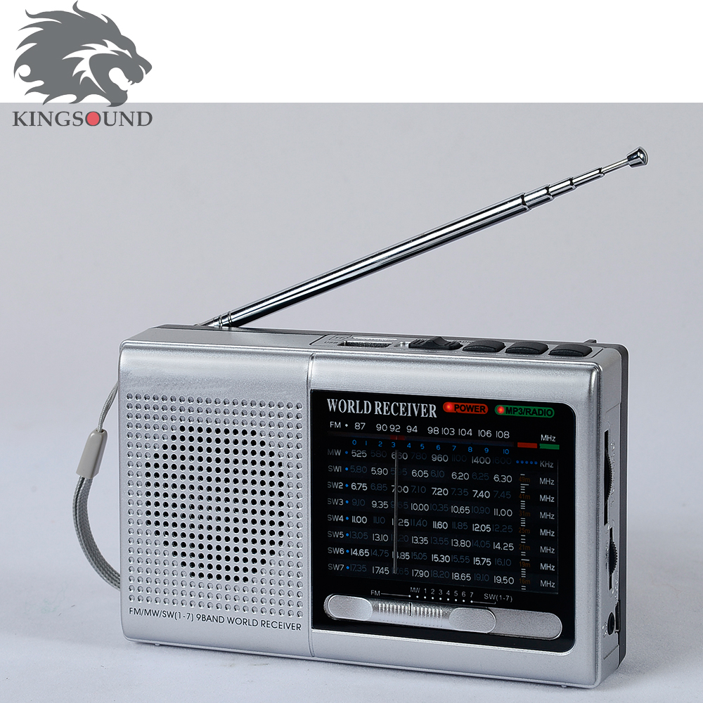 Fm mw sw ultra slim radio with usb tf card slot