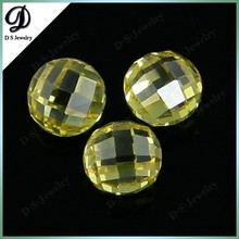 Cubic Zircon Beads Round double checkerboard cut synthetic gemstone beads