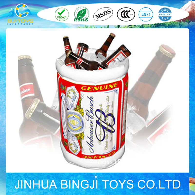 pvc inflatable beer ice cooler air bucket for promotions and wholesales