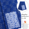 Royal blue lace fabric african net lace for beautiful wedding veil
