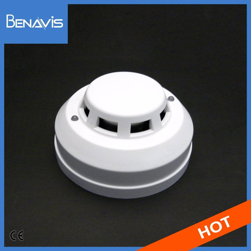 Factory Supply CE Certification Support ODM OEM 2 Line Relay Out Wide Buzzer optical smoke detector price