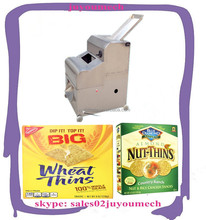 Most popular !!! Automatic wheat thins snack forming machine/wheat thins cutting machine