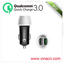 QC3.0 usb phone charging for samsung latest in car Qualcomm latest cell phone charger QC 3.0