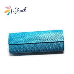 blue leather glasses case for 3d glasses