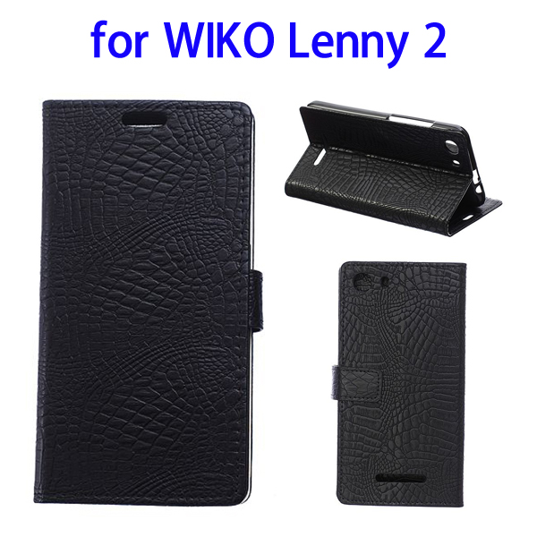 Fast Delivery with Card Slots Leather Wallet Case for Wiko Lenny 2