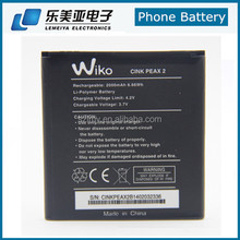 2000mah Li-ion Spice Mobile Battery for Wiko Rainbow Cink Peax 2