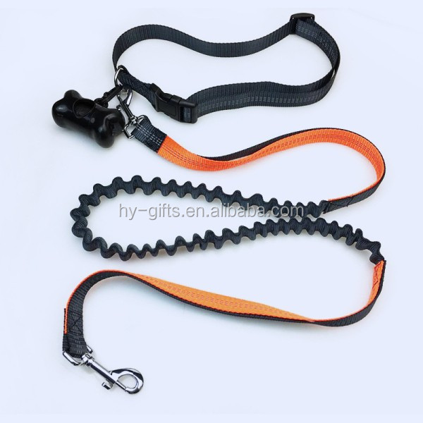 fashion retractable running dog leash adjustable belt leash for dog