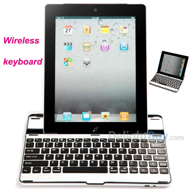 Mobile Wireless Ultra-thin Bluetooth Keyboard Dock Case For iPad 2 3 4 Tablet PC