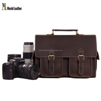 1088 Moshi Custom Wholesale Top Layer Buffalo Genuine Leather DSLR Camera Case for Canon Nikon Sony