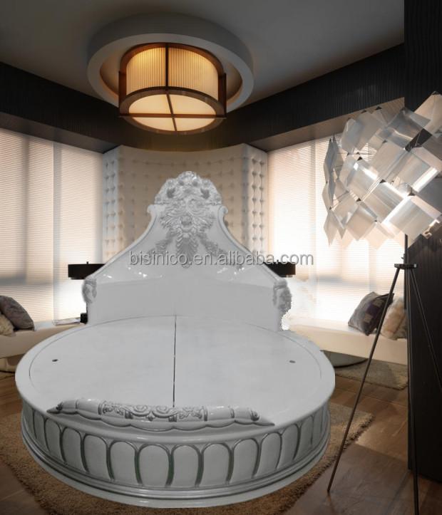 romantischen wei en farbe rundes bett m bel replik blumen. Black Bedroom Furniture Sets. Home Design Ideas