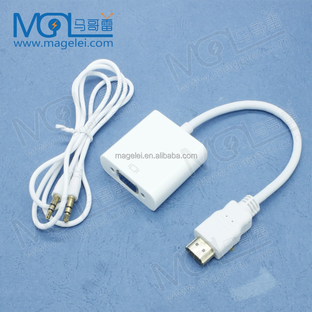 25 CM Male To Female HDMI To Vga Convertor VGA HDMI Converter With Audio