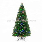 High Density Led Colorful Fiber Optic Christmas Tree PVC Green Christmas Tree Indoor