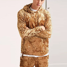 Wholesale Velour Custom Blank High Quality Men's Hoodies