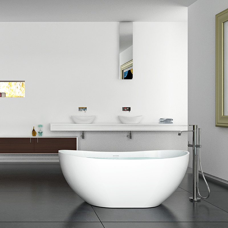 oval modern colored bathtubs and stand alone type bath tub bs-8633b