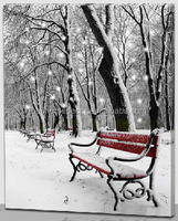 winter scene lighted canvas art optical fiber canvas print led light pictures