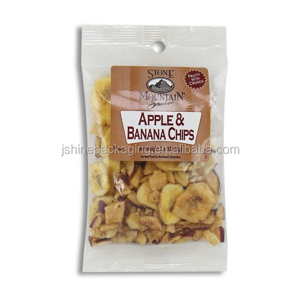 custom printing poly plastic banana chips packaging
