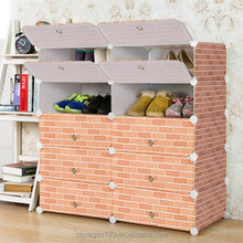 Factory wholesale cheap ready assembled plastic shoe cabinet cube