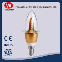 110-240V 0.5W E12 E14 C35 Rgb Led Candle Light